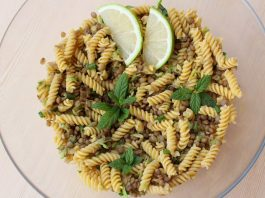 Σαλάτα ζυμαρικών με αρωματικές φακές 8, mamameli